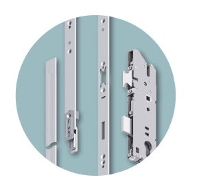 Renovation lock range: three-part faceplate