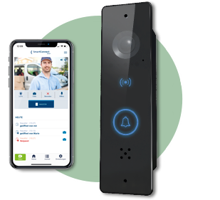 FUHR SmartConnect door: smart phone and SmartConnect door